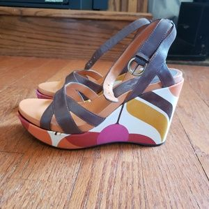 Womens Nine West wedge heels size 6